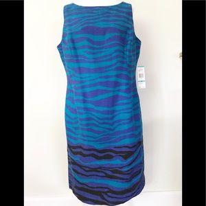 Jones New York plus size sleeveless pattern dress